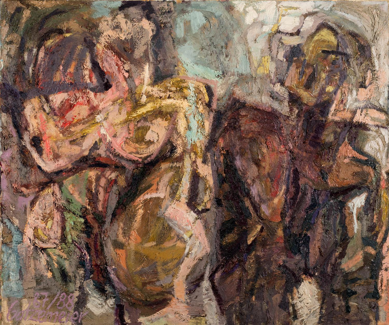 Thomas Gatzemeier Zwei Frauen 1987-88 Öl auf Leinwand 110 x 130 cm