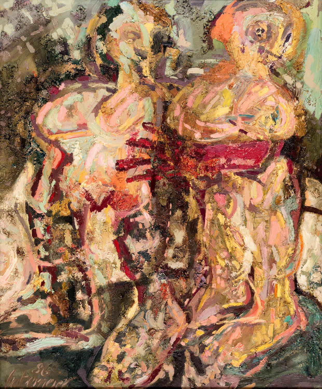 Thomas Gatzemeier Zwei Frauen II 1986 Öl auf Spanplatte 118 x 98 cm