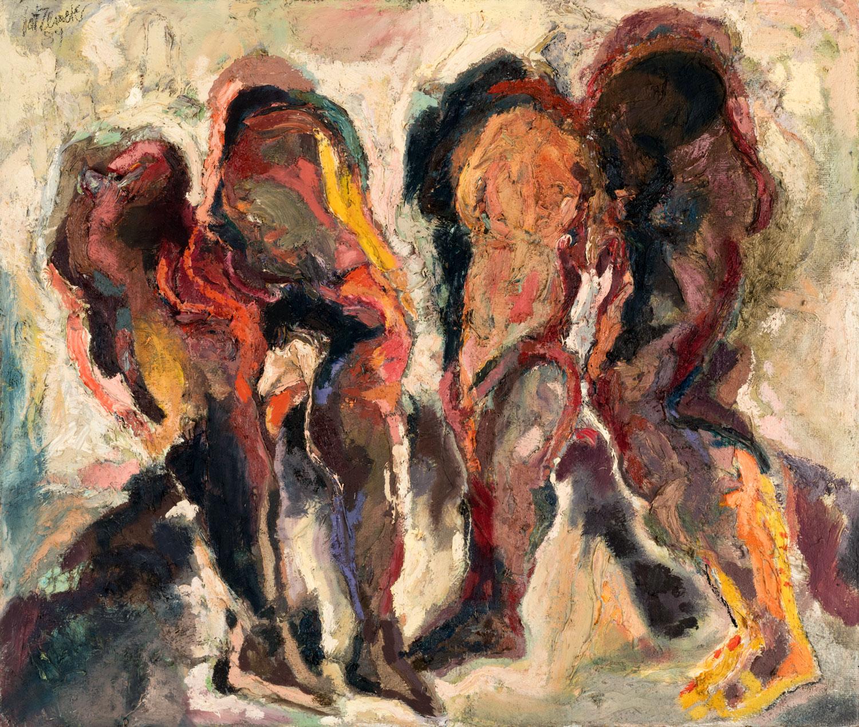 Thomas Gatzemeier Zwei Unterleiber 1989 Öl auf Leinwand 110 x 130 cm