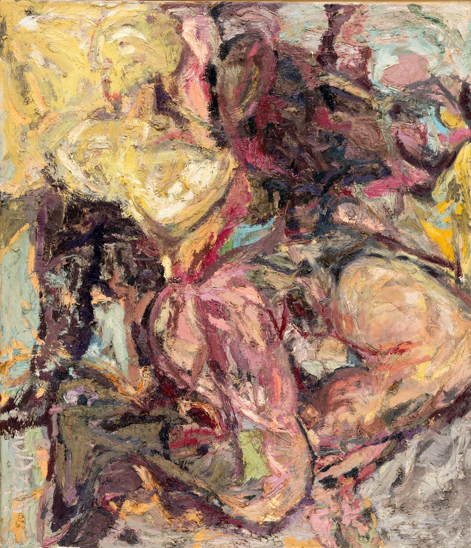 Thomas Gatzemeier Zwei Weiber 1988 Öl auf Leinwand 140 x 120 cm