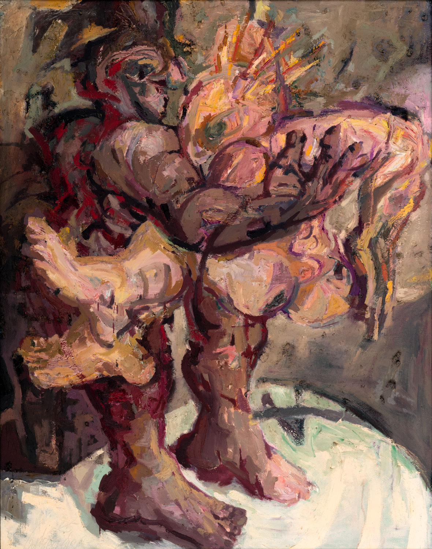 Thomas Gatzemeier ein Paar 1985 Öl auf Leinwand 140 x 110 cm
