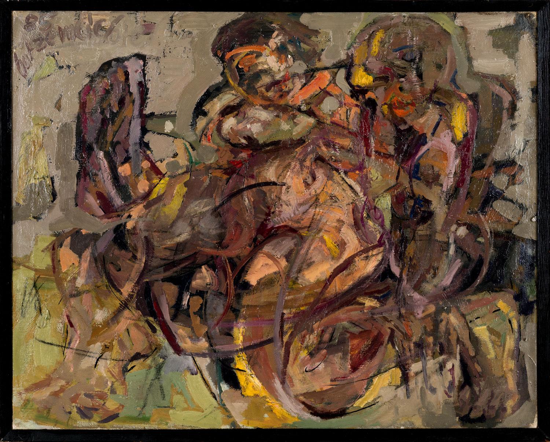 Thomas Gatzemeier o.T. (Zwei Frauen) 1985 Öl auf Leinwand 100 x 130 cm