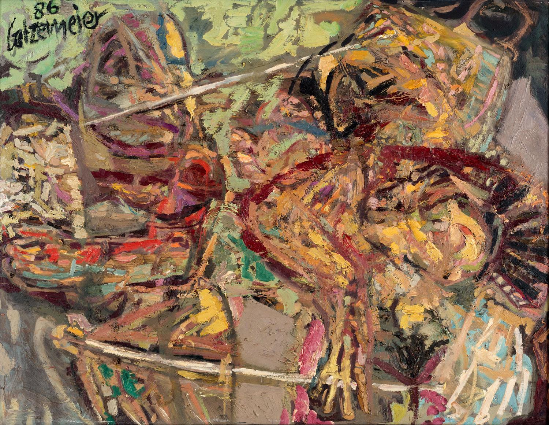 Thomas Gatzemeier Begegnung 1986 Öl auf Leinwand 105 x 135 cm
