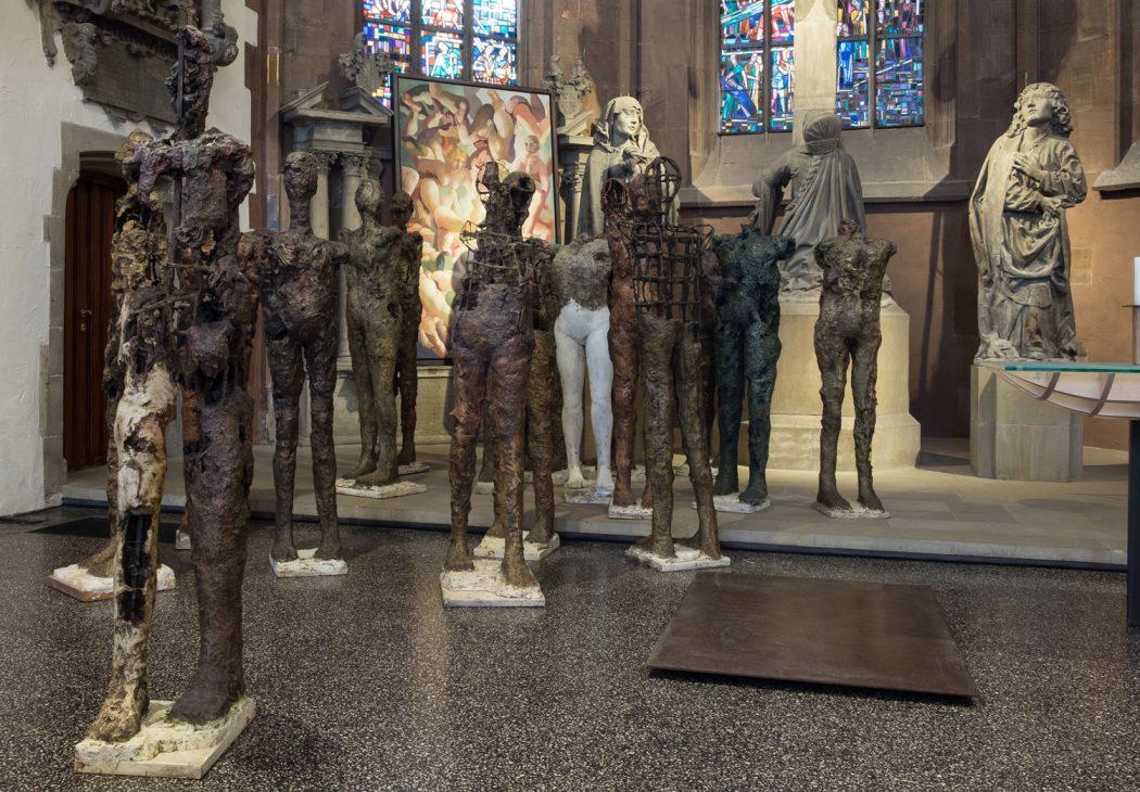Ausstellung Leibhaft Stuttgart Thomas Gatzemeier 17 Plastiken in der Stadtkirche