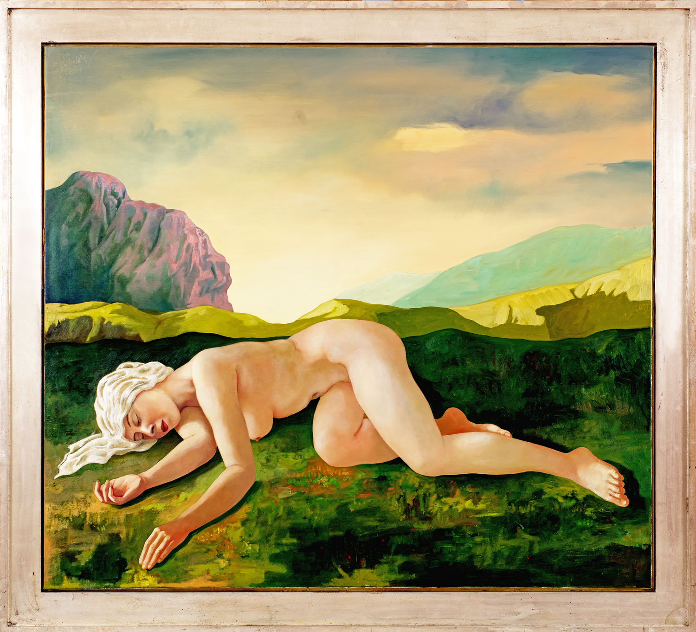 Thomas Gatzemeier 2004 Alpenglühen Öl auf Leinwand 130 x 150 cm